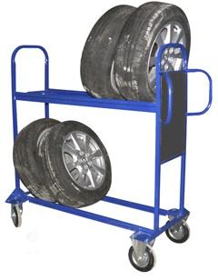 Передвижные стеллажи для шин.