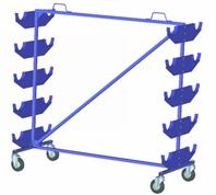 Передвижные стеллажи для рулонных материалов.